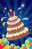 cheerful birthday card