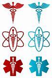 vector caduceus icons