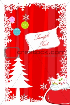 abstract merry christmas card