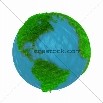 Green Earth, covered with grass