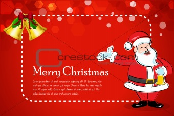 abstract christmas card with santa