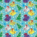 seamless pattern with christmas items