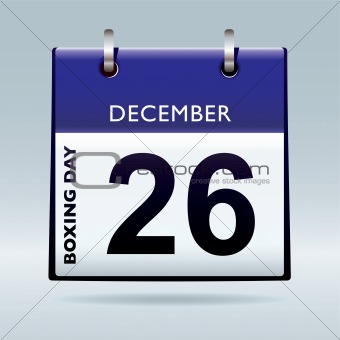 Boxing day calendar blue