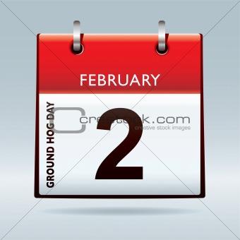 Ground hog day calendar
