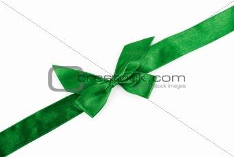 green holiday ribbon
