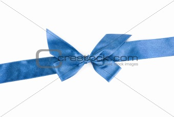 blue holiday ribbon