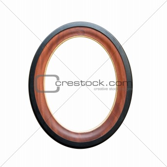 circle wooden frame