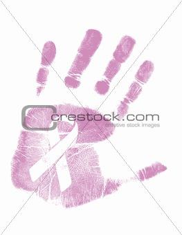 Breast Cancer Awareness handprint