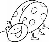 funny ladybug for coloring book