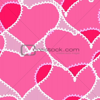 Abstract background with transparent hearts