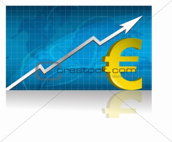 Euro currency trading graph.
