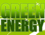 Green energy design over a light green