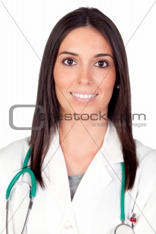 Attractive brunette Doctor