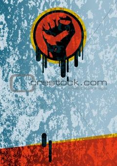 fist grunge background