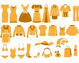 Woman's clothes icons