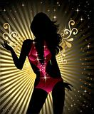 Showgirl silhouette