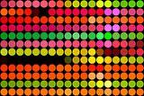 fluorescent dots