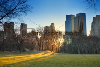 Central Park sunset, New York City
