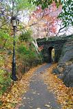 New York City Central park Stone bridge