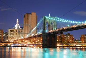 Brooklyn Bridge in New York City Manhattan