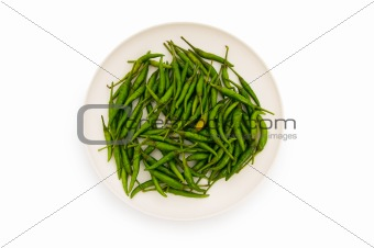 Hot peppers isolated on the white background