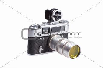 old vintage rangefinder camera