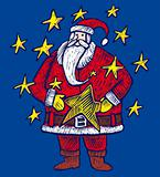 Santa Claus within stars
