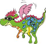 Flying fairy dragon cartoon