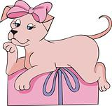 Pink doggy gift