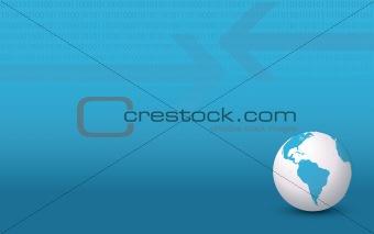 Blue Business Globe Background
