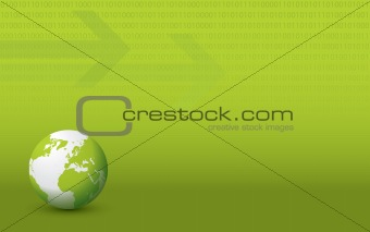 Green Business Globe Background