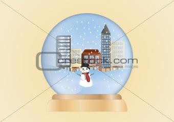 christmas ball-winter scene