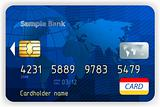 Credit cards, front view (no transparency). EPS 8