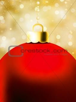 Christmas Ball card template. EPS 8