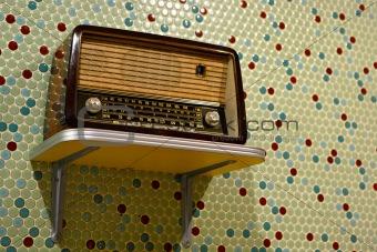 grungy retro radio