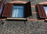 window of the building in shanghai.