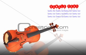 cello - string classical instrument - isolated on white