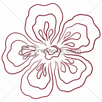 Abstract flower, pictogram