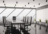 Modern boardroom interior 3d