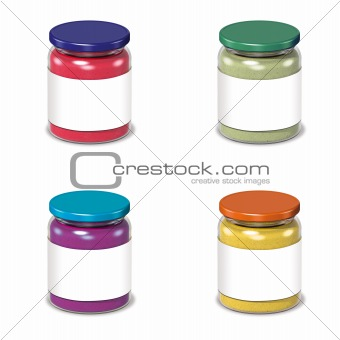 glass cans with blank label