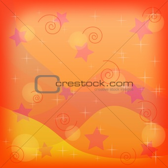 Abstract holiday background, orange