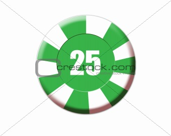 Green roulette chip
