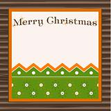 Sample Christmas background with snowflake. Vector illustration.