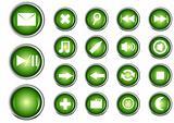Glossy button. Vector illustration.