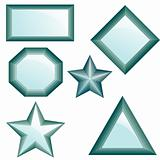 Set of diamonds. Vector Illustration