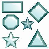 Set of diamonds. Vector Illustration