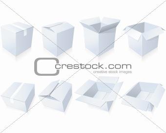 Blank cardboard  boxes