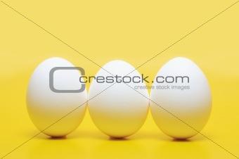 Three Hen's Eggs