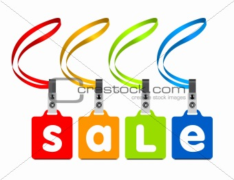 Vector sale labels
