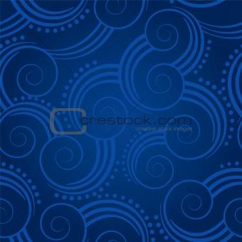 Seamless blue swirls background
